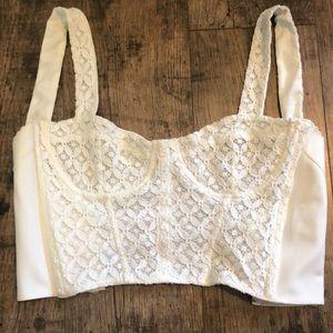 Top Shop Lace crochet crop top.
